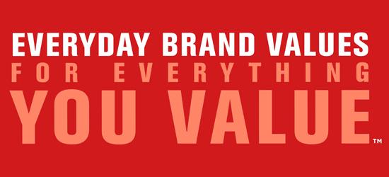 Everyday Brand Values
