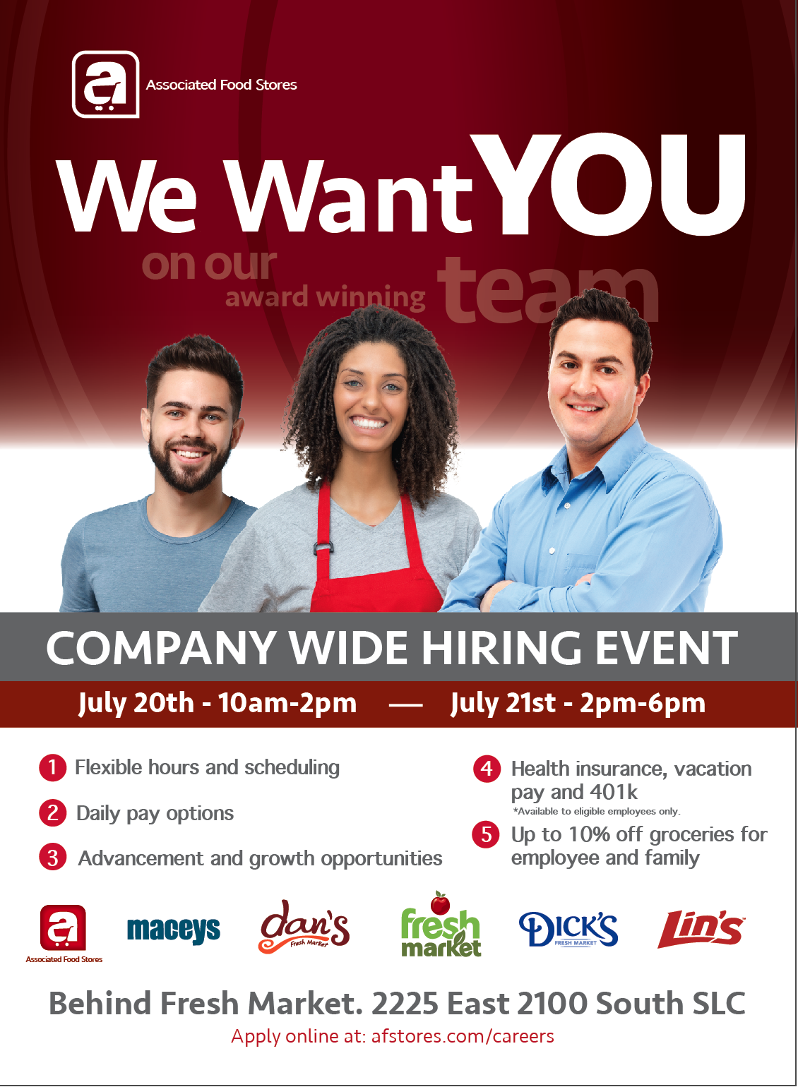 AFS hiring event poster